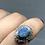 Thumbnail: Sterling Silver Australian Doublet Opal Ring size 7
