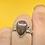 Thumbnail: Sterling Silver Dinosaur Bone Ring Size 7.5