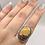 Thumbnail: Sterling Silver Mookait Jasper Ring Size 10