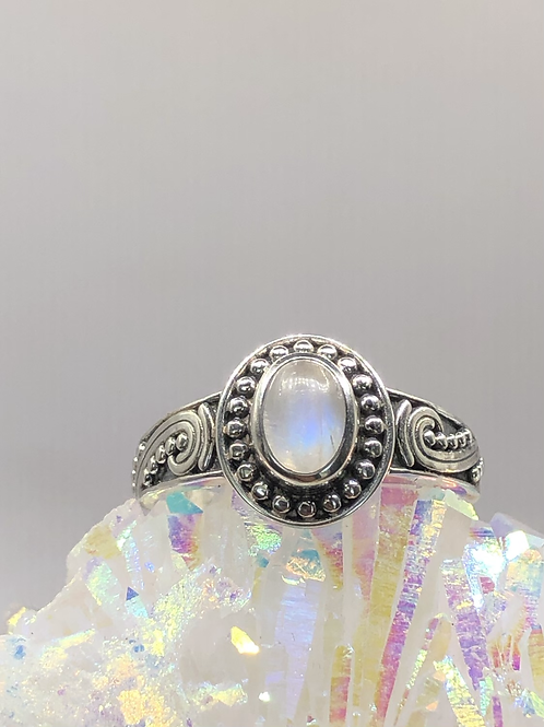 Sterling Silver Moonstone Ring size 6