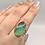Thumbnail: Sterling Silver Boulder Chyroprase Ring Size 9