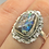 Thumbnail: Sterling Silver Boulder Opal Ring Size 9