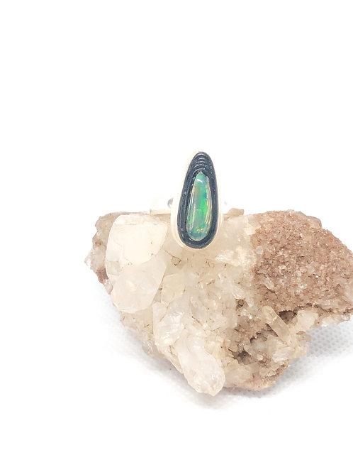 Sterling Silver Australian Triplet Opal Ring 9
