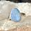 Thumbnail: Sterling Silver Australian Opal Ring Size 8.5