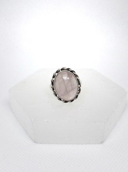 Rose quartz ring size 7.5