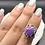 Thumbnail: Sterling Silver Purple Kingman Turquoise Ring Size 6