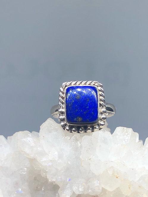 Afghan Lapis Lazuli Ring Size 6.5