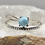Thumbnail: Sterling Silver Larimar Ring Size 9.5