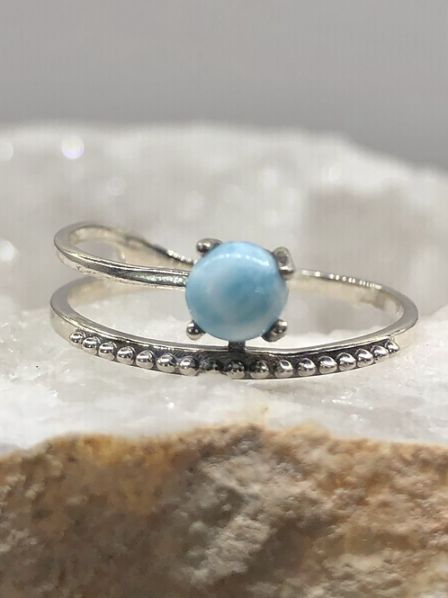 Sterling Silver Larimar Ring Size 9.5