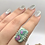 Thumbnail: Sterling Silver Ruby Fuchsite Ring Size 8.5