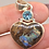Thumbnail: Sterling Silver Boulder Heart Opal Pendant