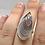 Thumbnail: Sterling Silver Botswana Agate Ring Size 6.5