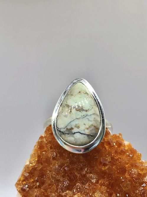 Sterling Silver Buffalo Turquoise Ring Size 10