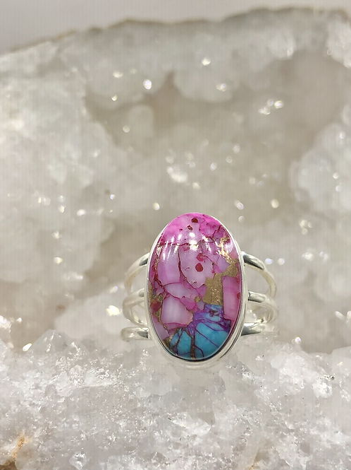 Sterling Silver Dhalia Mojave Turquoise Ring Size 11