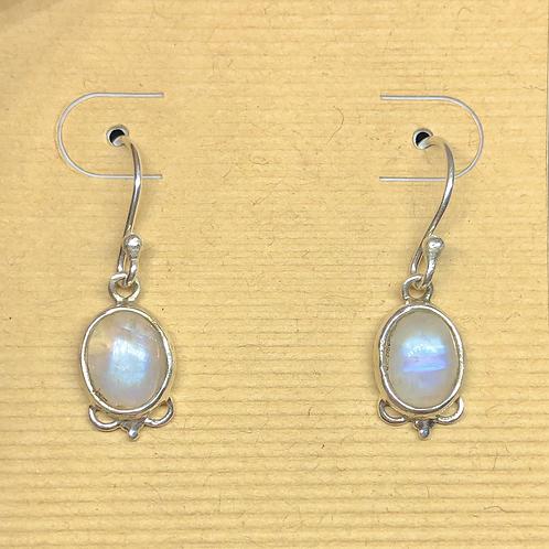 Sterling  Silver Moonstone Earrings
