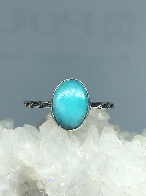 Paraiba Amazonite Ring Size 9