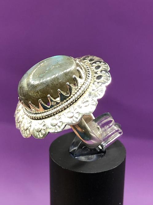 Sterling Silver Labradorite Ring Size 6.5