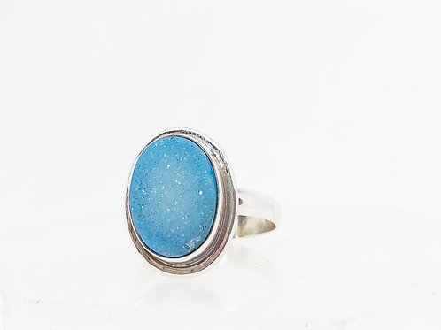 Druzy Agate ring size 7