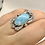 Thumbnail: Sterling Silver Larimar Ring Size 6.5