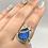 Thumbnail: Sterling Silver Labradorite Ring Size 10