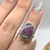 Thumbnail: Sterling Silver Ruby Ziosite Ring Size 6