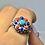 Thumbnail: Sterling silver Multistone ring size 10