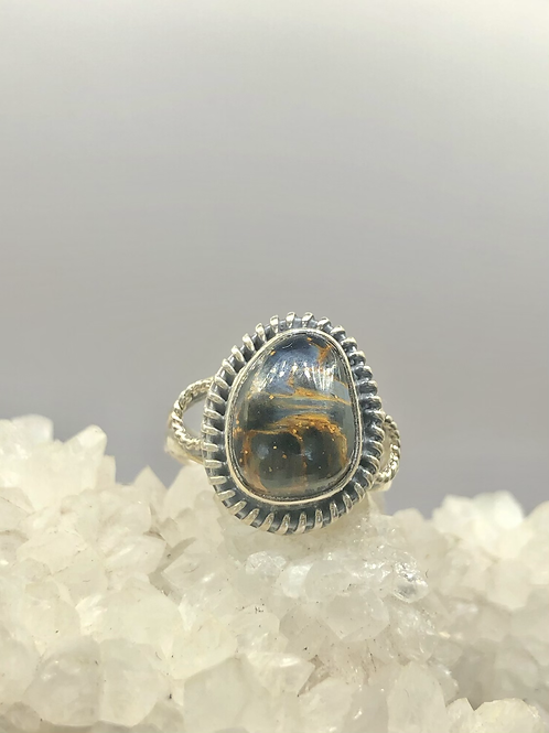 Sterling Silver Pietersite Ring Size 8