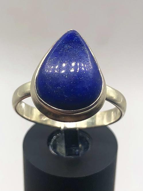 Sterling Silver Lapis Lazuli Ring Size 10