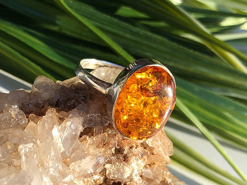 Baltic Amber ring size 8