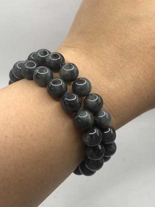 Blue Labradorite Beaded Bracelet