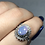 Thumbnail: Sterling Silver Australian Doublet Opal Ring size 6.5