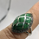 Thumbnail: Sterling Silver Malachite Ring Size 5.5