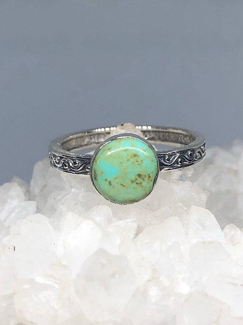 Nevada Aztec Turquoise Ring Size 8