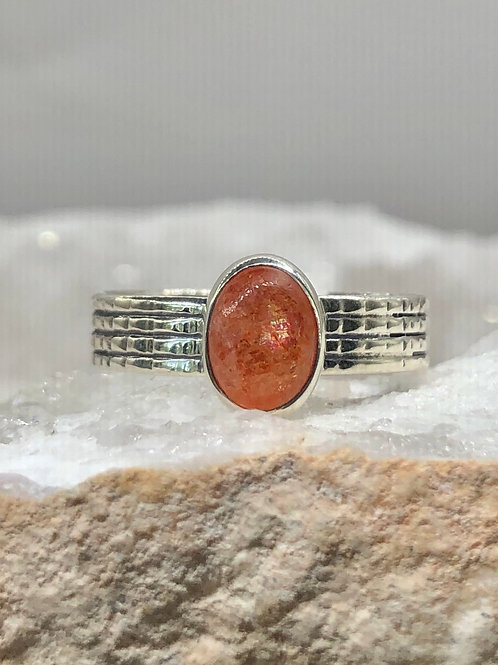 Sterling Silver Sunstone Ring Size 8