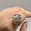 Thumbnail: Sterling Silver Moss Agate Ring Size 10.5