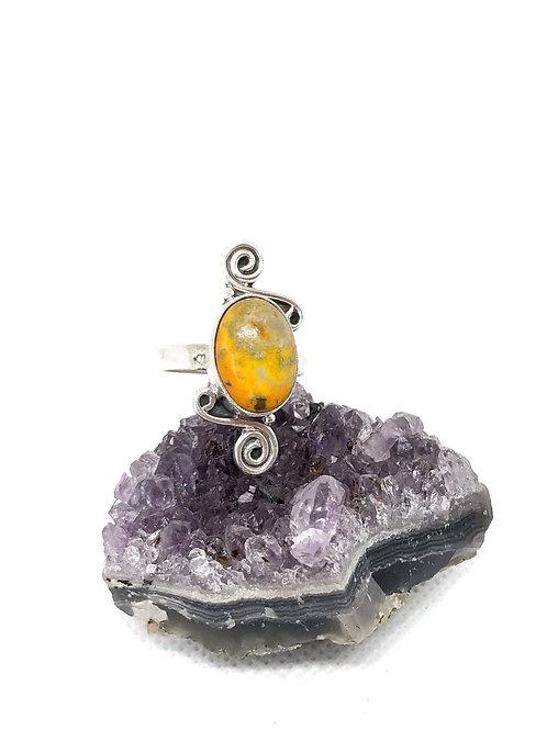 Bumblebee jasper ring size 8