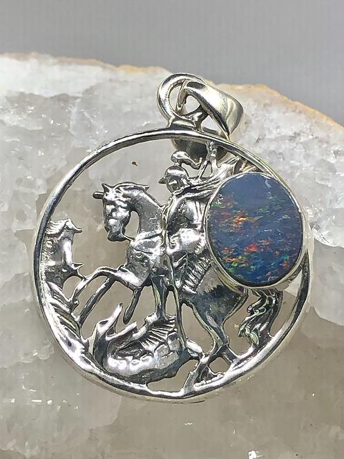 Sterling Silver Australian Opal Pendant