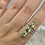 Thumbnail: Sterling Silver Peridot Ring Size 11