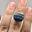 Thumbnail: Sterling Silver Rainbow Calsilica Ring Size 5.5