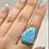 Thumbnail: Sterling Silver Larimar Ring Size 10