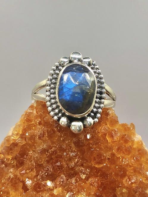 Sterling Silver Labradorite Ring Size 8.5