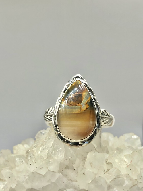 Sterling Silver Pietersite Ring Size 9