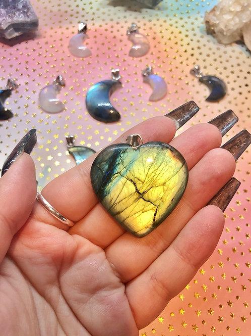 Multicolor Fire Labradorite Pendant