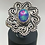 Thumbnail: Sterling Silver Blue Ethiopian Opal Ring Size 7.5