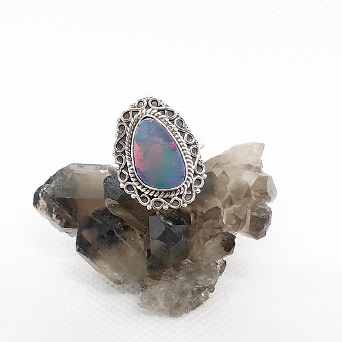 Australian Solitaire Opal ring size 7