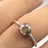 Thumbnail: Sterling Silver Watermelon Tourmaline Ring Size 7.5