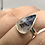 Thumbnail: Sterling Silver Dendritic Agate Ring Size 7