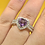 Thumbnail: Sterling Silver Amethyst Ring Size 6