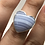 Thumbnail: Sterling Silver Blue Lace Agate Ring Size 6