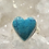 Thumbnail: Sterling Silver Chrysocolla Heart Ring Size 11